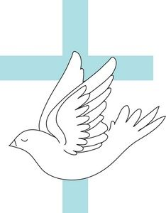 Dove image a white. Bird clipart baptism