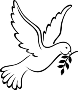 The symbol of our. Baptism clipart dove