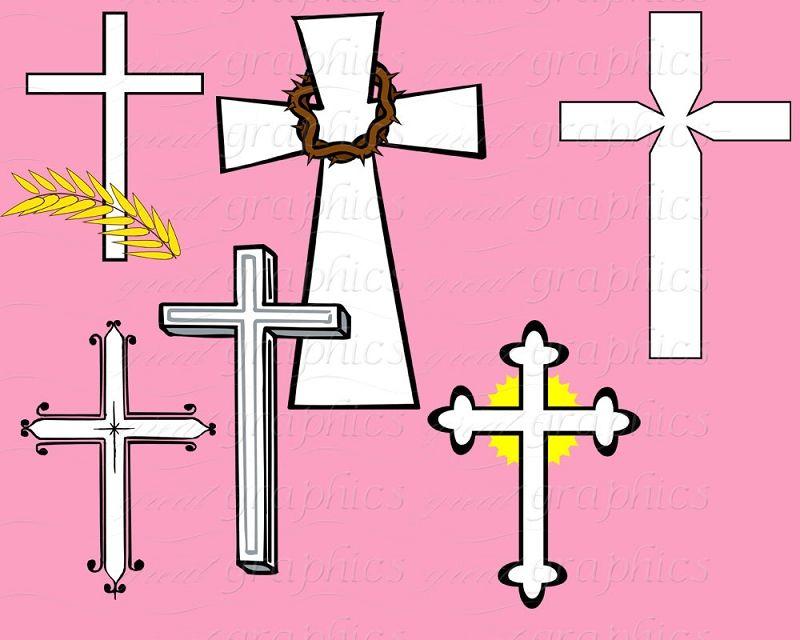 Baptism clipart easter. Cross clip art digital