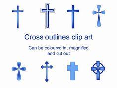 Cross free silhouette pinterest. Baptism clipart easter