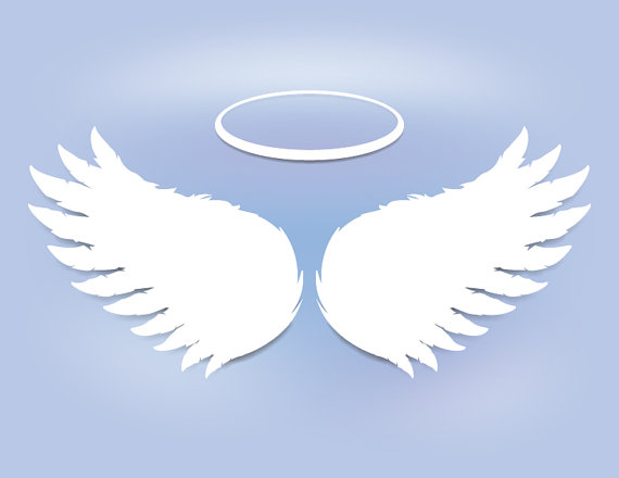 Feathers angel wings instant. Baptism clipart easter