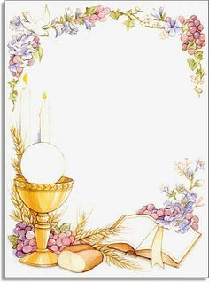 Baptism clipart eucharist. First holy communion borders