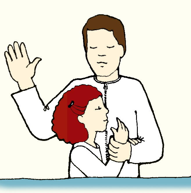 By portal . Baptism clipart immersion