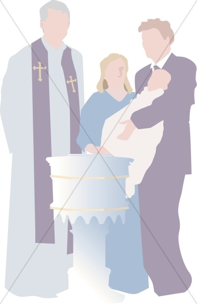 Baptism clipart priest. Simple baby altar and