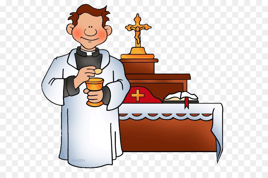 Catholic clipart cartoon. Priest baptism clip art