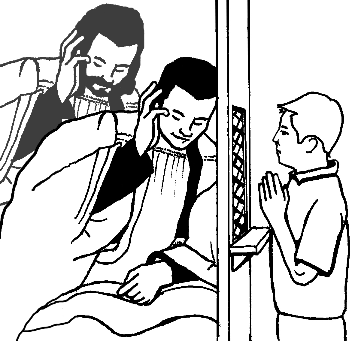 Baptism clipart priest. Catholic drawing at getdrawings