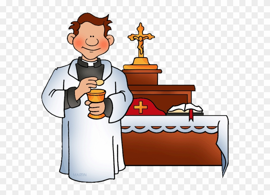 Clip art holy mass. Baptism clipart priest