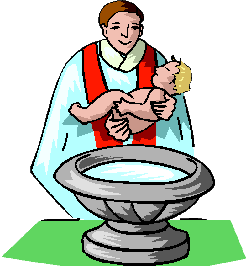 Clipart wedding priest. Baby baptism kid churches