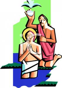 Baptism clipart river. A religious follower being