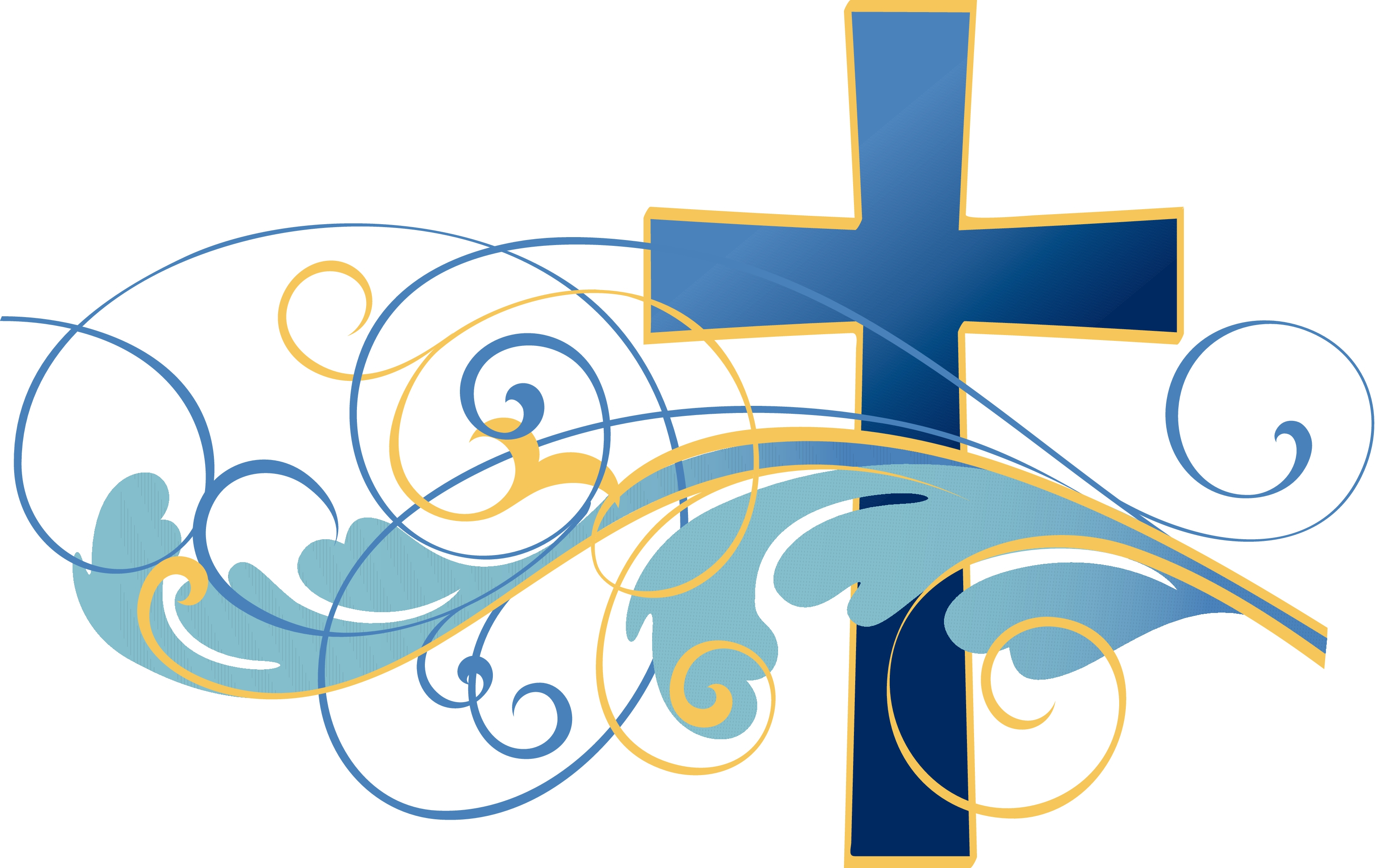 Baptism clipart swirl. Free christian for water