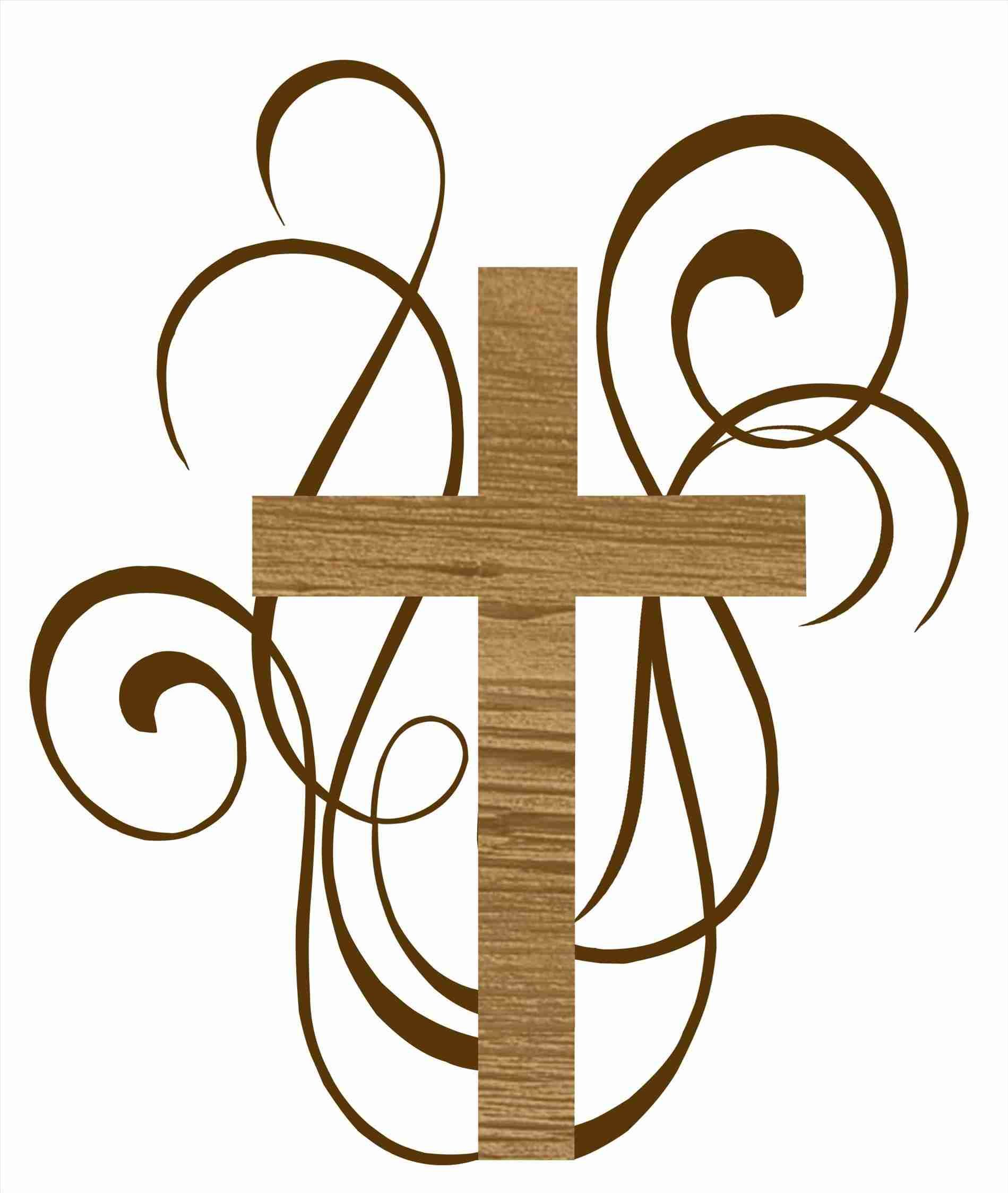 Baptism clipart swirl. Cross and wedding rings