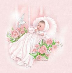 Free baby clip art. Baptism clipart vintage