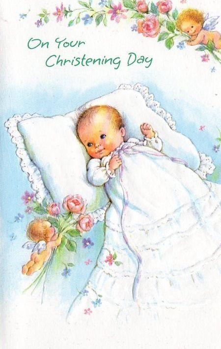 Baptism clipart vintage.  best baby cards