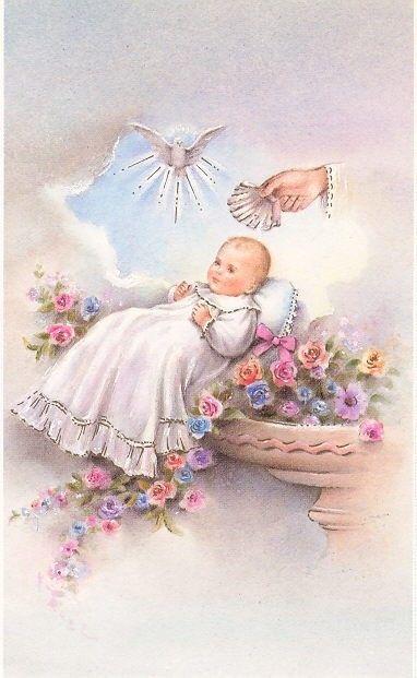 Anaya baby holy cards. Baptism clipart vintage