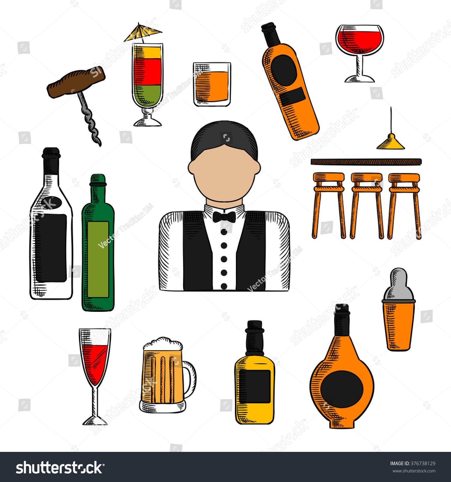 Awesome design digital collection. Bar clipart alcohol