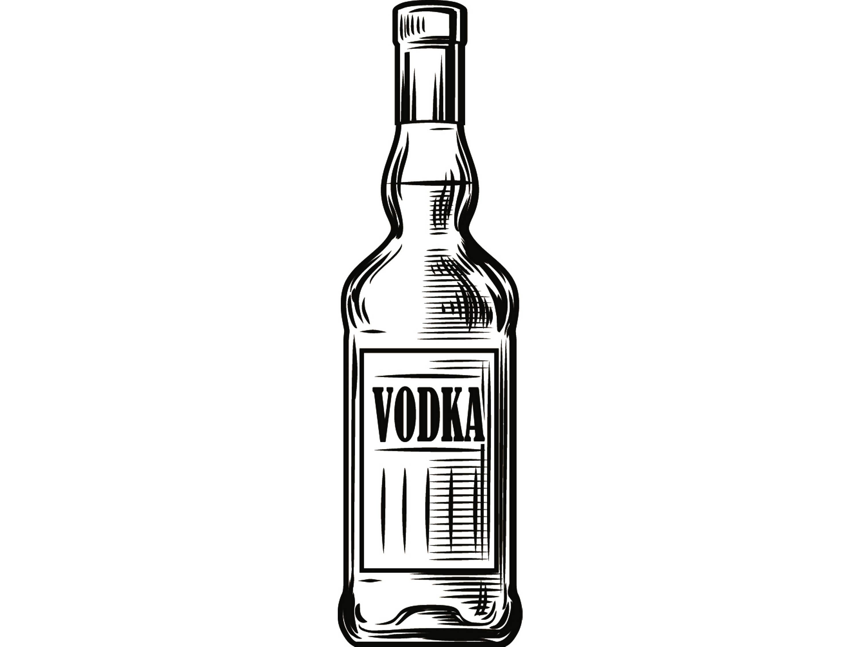 Bar clipart alcohol. Bottle vodka liquor drink