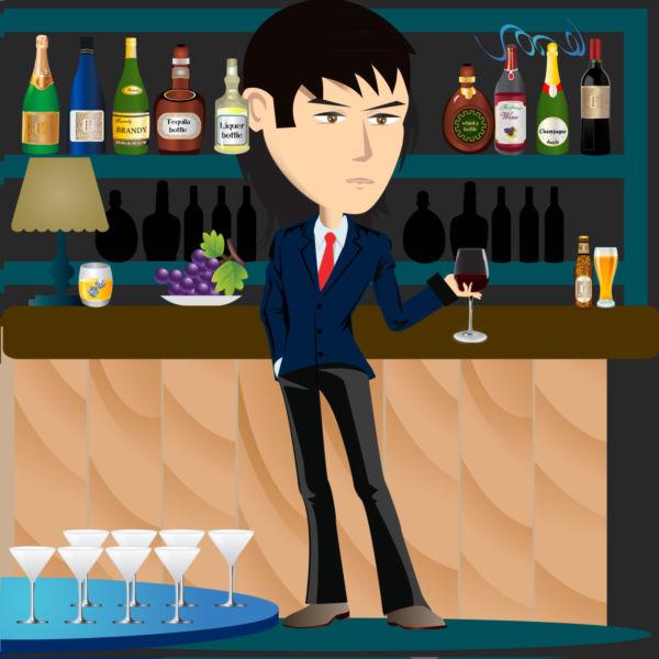 Wine drinker clip art. Bar clipart alcohol