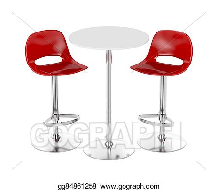 Stock illustration and stools. Bar clipart bar table