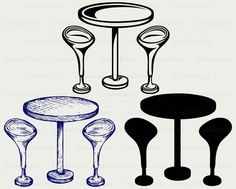 Bar clipart bar table. Svg silhouette cricut cut