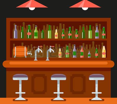 Bar clipart bar table. Station