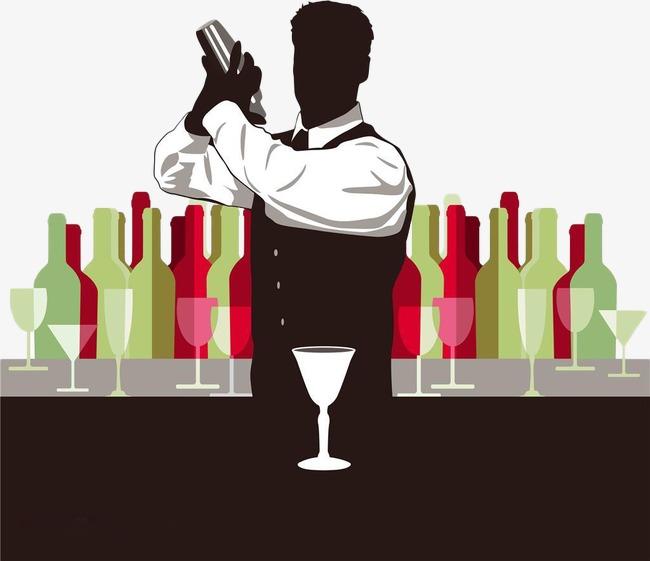 Waiter png image and. Bar clipart bartender