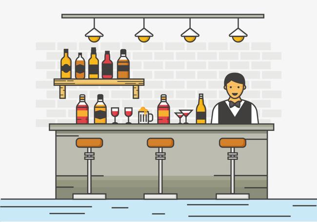 Bar clipart bartender. Liqueur png image and