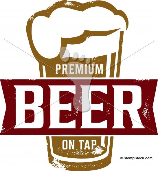 Premium on tap design. Bar clipart beer bar