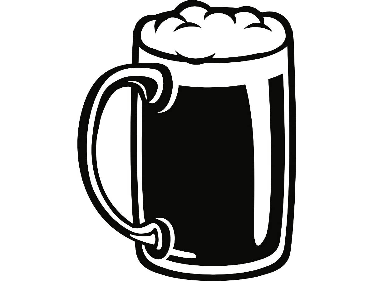 Mug glass stein suds. Bar clipart beer bar