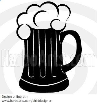 Bar clipart beer bar. One pint mug vector