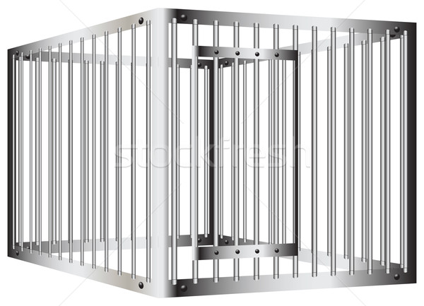 Prison vector illustration kostyantin. Bar clipart cage