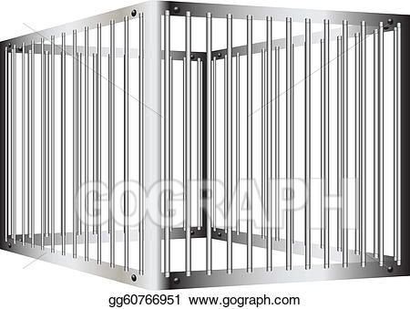 Bar clipart cage. Vector stock prison illustration