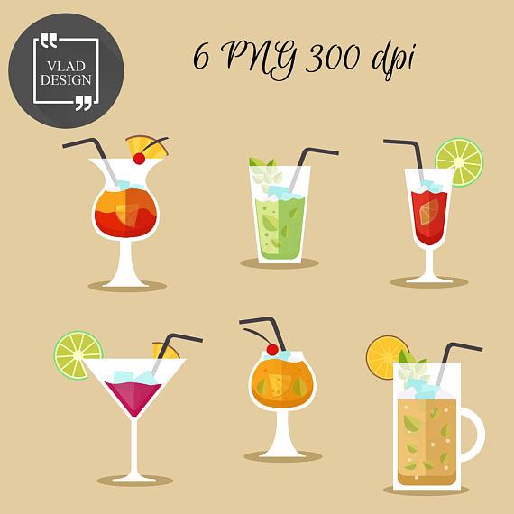 Drinks clipart bar drink. Cocktails alcohol digital beverages