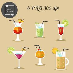 Bar clipart cocktail. Summer cocktails clip art