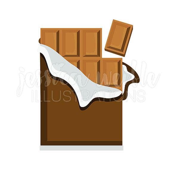 Chocolate clipart cute. Bar digital candy clip