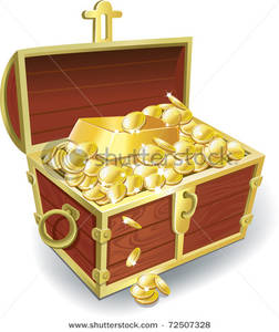 Bar clipart gold bar. Treasure chest with coins