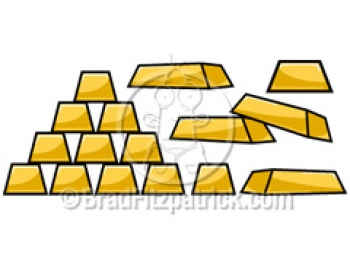 Bar clipart gold bar. Cartoon picture royalty free