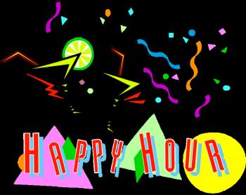 Bar clipart half. Happy hour strathmere s