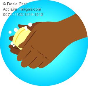 Bar clipart hand on. Clip art illustration of