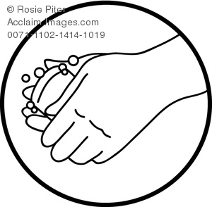 Illustration of washing hands. Bar clipart hand on