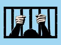 Jail cartoon clip art. Bar clipart hand on
