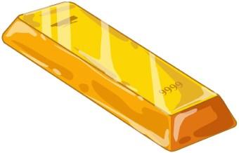 Bar clip art panda. Gold clipart gold block