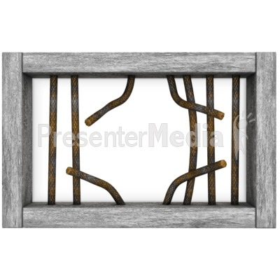 Cage clipart jail. Window bars broken presentation