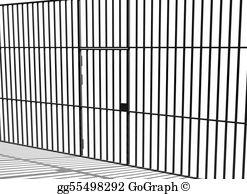 Stock illustration convict prisoner. Bar clipart jail cell