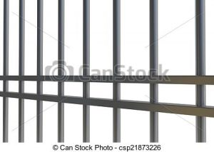 Bar clipart jailbars. Jail bars digitally generated