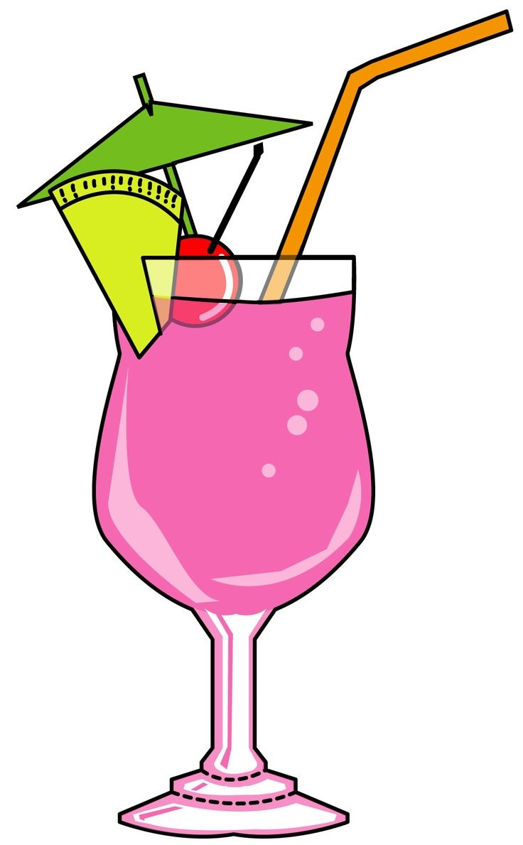 A colorful cocktail cocktails. Bar clipart martini