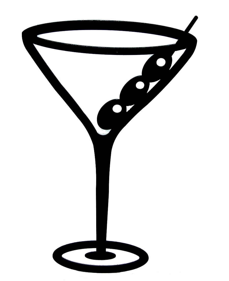Glass . Bar clipart martini