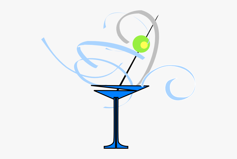 Alcoholic drink cocktail party. Bar clipart martini