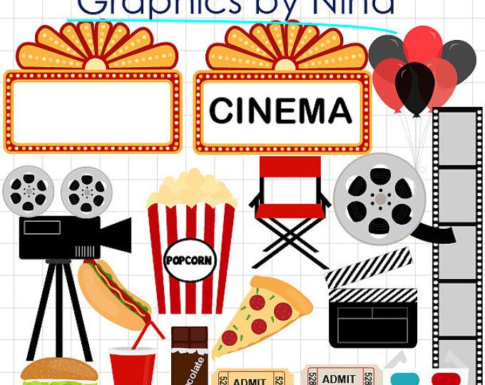Movie night clip art. Theatre clipart hollywood theater