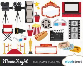 Theatre clipart cine. Movie night clip art