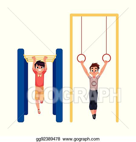 Eps vector boys hanging. Bar clipart playground